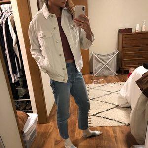 Top shop white jean jacket